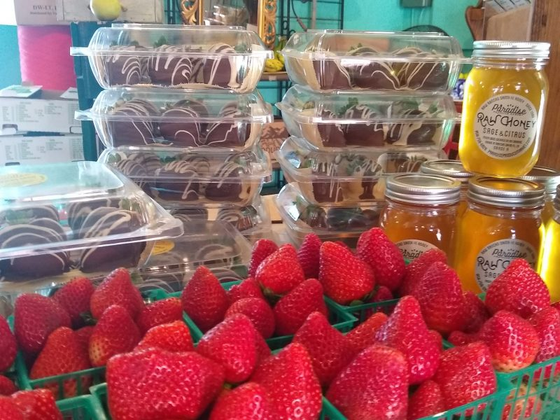 Local Strawberries at Paradise Produce 8175 Del Dios Highway, RSF, 92067.